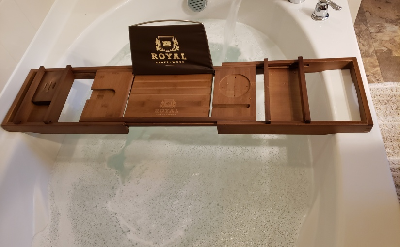 Review- ROYAL CRAFT WOOD Luxury Bamboo Bathtub Caddy TrayROYAL CRAFT WOOD Luxury Bamboo Bathtub Caddy Tray